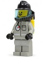 firec011G Brandweer - Gray met Black Brandweer helm gebruikt *0M0000