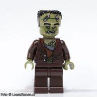 mof017 Monsters: Monster met zandgroen hoofd NIEUW loc Halloween