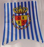 sailbb02-1G Hoofdzeil met blauwe strepen en schild wit gebruikt *5D000