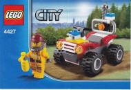 Set 4427 BOUWBESCHRIJVING- Fite ATV Brandweer gebruikt loc
