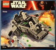 Set 75100 BOUWBESCHRIJVING-  First Order Snowspeeder Star Wars NIEUW loc