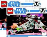 Set 7676 BOUWBESCHRIJVING- Star Wars:Republic Attack Gunship Star Wars gebruikt loc