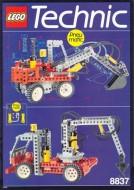 Set 8837 BOUWBESCHRIJVING- Pneumatic Excavator gebruikt loc