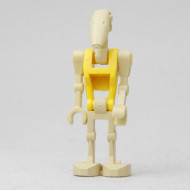 sw0184G Star Wars:Battle Droid Commander with Straight Arm and Yellow Torso gebruikt *0M0000