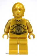 sw161a Star Wars:C-3PO - Pearl Gold with Pearl Gold Hands NIEUW loc