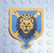 x95px1-7G Hangende banier 4x5 leeuwenhoofd (canvas) blauw gebruikt *5K000