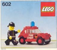 Set 602 BOUWBESCHRIJVING Fire Chief gebruikt loc LOC M1