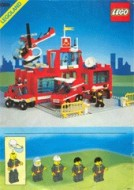 Set 6389 BOUWBESCHRIJVING- Fire Control Center kreukels en scheurtje gebruikt loc LOC M4
