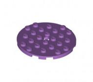 11213-157 Platte plaat 6x6 rond lavender, midden NIEUW *5K0000