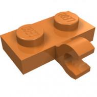11476-150 Platte plaat 1x2 met horizontale clip LANGE einde caramel, midden NIEUW *1L0000