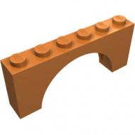 12939-150 Steen, boog 1x6x2 dunne top geen versterking onderkant caramel, midden NIEUW *
