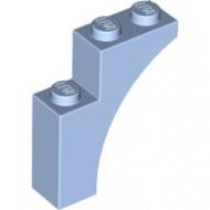 13965-105 Steen, halve boog 1x3x3 (hoger model) (trapsgewijs) blauw, lichthelder NIEUW *