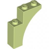 13965-158 Steen, halve boog 1x3x3 (hoger model) (trapsgewijs) geelgroen NIEUW *