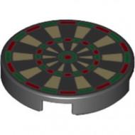 14769pb024-11 Tegel 2x2 rond met nopgat achterkant Dartboard zwart NIEUW *1L0000