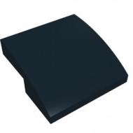 15068-11G Dakpan rond 2x2x2/3 geen noppen afgerond zwart gebruikt *1L278