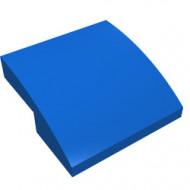 15068-7G Dakpan rond 2x2x2/3 geen noppen afgerond blauw gebruikt *1L278
