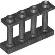 15332-77 Balustrade-hek 1x4x2 met VIER noppen bovenop grijs, donkerparel NIEUW *1L16-9