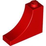 18653-5 Steen,omgekeerde halve boog 1x3x2 rood NIEUW *