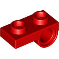 18677-5 Plaat 1x2 met pingat onderop rood NIEUW *1L0000
