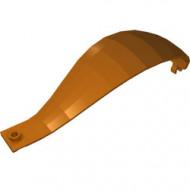 18969-68 Paneel 4x4x13 gebogen met clips (Ballon) oranje, donker NIEUW *