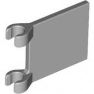 2335-86 Vlag 2x2 vierkant met twee clips grijs, licht (blauwachtig) NIEUW *1L058