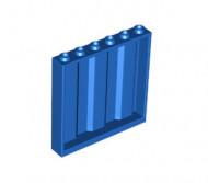 23405-7 Paneel 1x6x5 met planken (zijkanten) blauw NIEUW loc