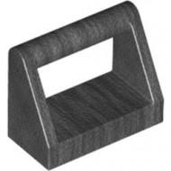 2432-77 Tegel 1x2 met hendel bovenop grijs, donkerparel NIEUW *1L0000