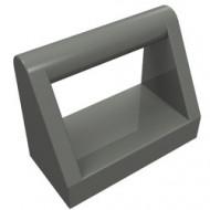 2432-85 Tegel 1x2 met hendel bovenop grijs, donker (blauwachtig) NIEUW *1L0000