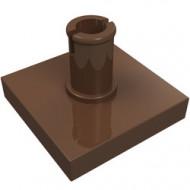 2460-8 Tegel 2x2 met pin bruin (klassiek) NIEUW *1L0000