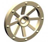 2470-2 Wiel Kasteel klein (27mm diameter) crème NIEUW loc