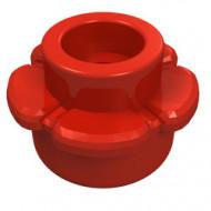 24866-5 Bloem- Platte plaat 1x1 bloem VIJF blaadjes rood NIEUW *0L0000