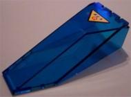 2507pb06-14G Cockpit glas 10x4x2 1/3 met res-q logo transparant donkerblauw gebruikt *3L0000