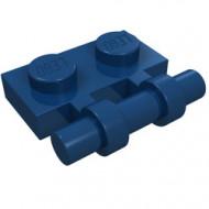 2540-63 Platte plaat 1x2 met OPEN hendel blauw, donker NIEUW *1L292/8