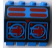 2582pb01-7G Scharnierpaneel 2x4x3 1-3v Aquazone motief blauw gebruikt *1L0000