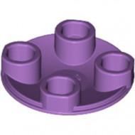 2654-157 Platte plaat 2x2 rond afgeronde bodem lavender, midden NIEUW *1L137