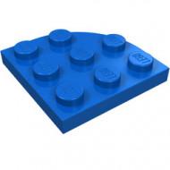 30357-7G Platte plaat 3x3 afgeronde hoek blauw gebruikt *5G000