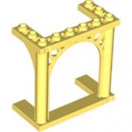 30613-103 Steen, boog 3x6x5 poort met ornamenten geel, lichthelder NIEUW *