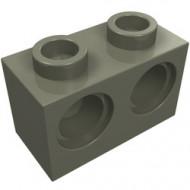32000-10G Technic, steen 1x2 met 2 gaten donker, grijs (klassiek) gebruikt *