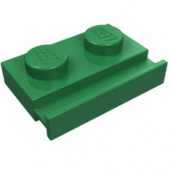 32028-6 Platte plaat 1x2 met deurrail groen NIEUW *1L316/5