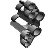 32191-77 Technic, Sierpaneel # 2 Large Short, Large Holes, Side B Grijs, donkerparel NIEUW loc