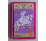 33009pb037-71G Boek met springend paard magenta gebruikt *0D0000