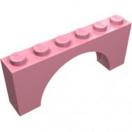 3307-23G Steen, boog 1x6x2 (niet-verhoogd zie ook 12939) roze (klassiek) gebruikt *