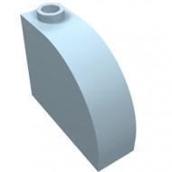 33243-105 Steen, 1x3x2 ronde top 90 graden massief blauw, lichthelder NIEUW *1L0000