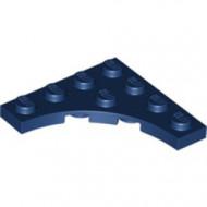 35044-63 Platte plaat 4x4 vierkant met ronde uitsnede blauw, donker NIEUW *5D0000