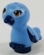 35074pb03-63 Vogel, middenblauw lichaam blauw, donker NIEUW *0D000