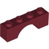 3659-59G Steen, boog 1x4x1 hoog rood, donker gebruikt *