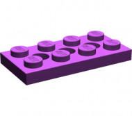 3709b-24 Technic, Plaat 2x4 met gaten paars NIEUW *
