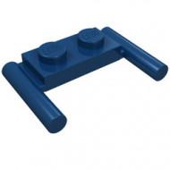 3839b-63 Platte plaat 1x2- 2 hendels lagere setting blauw, donker NIEUW *1L319/11