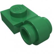 4081b-6 Platte plaat 1x1 met gesloten clip (dikke ring) groen NIEUW *1L289/5