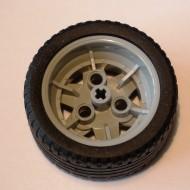 41896c04-86 Wiel 43.2mm doorsnede met platte autoband 41897 Grijs, licht-blwachtig (NIEUW)
